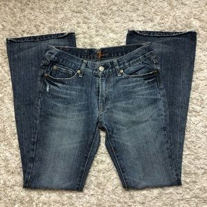 7 For All Mankind Jeans Blue Bootcut Jeans Size 28